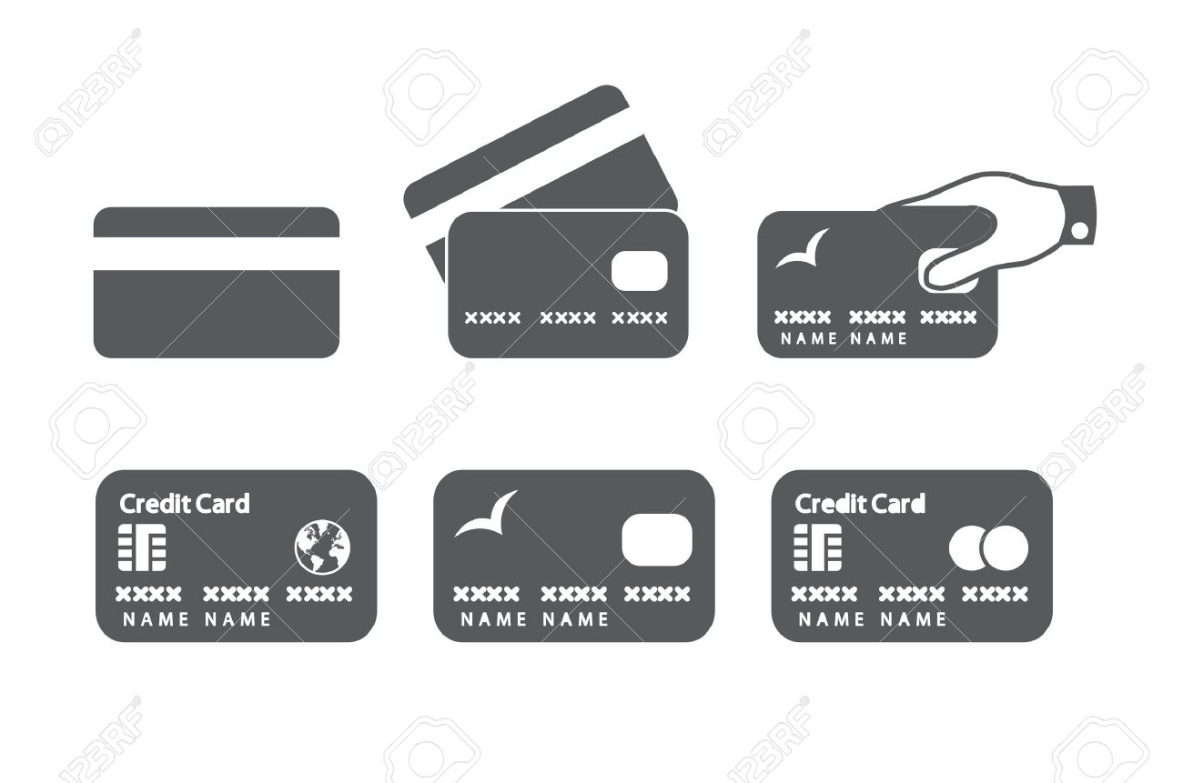 Credit Card Icons Illustration Royalty Free Cliparts, Vectors, And ...