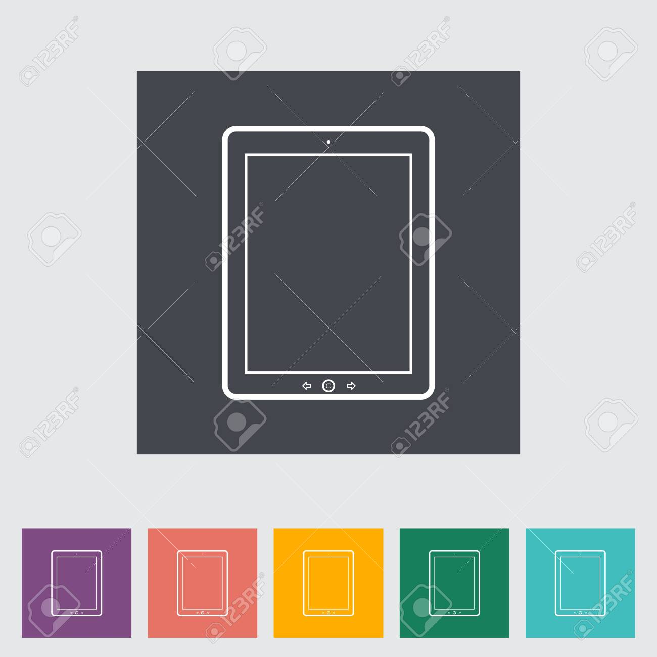 Tablet PC flat icon. illustration. Stock Vector - 21113728
