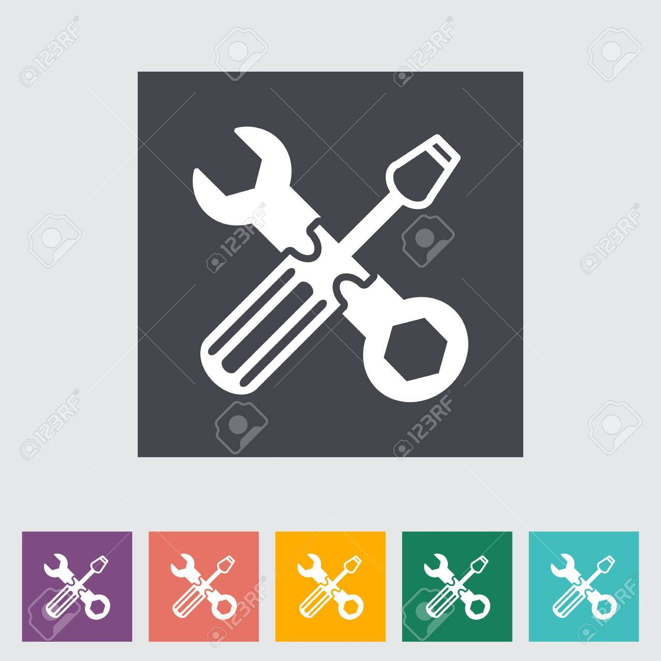 Repair flat icon. Stock Vector - 21114989