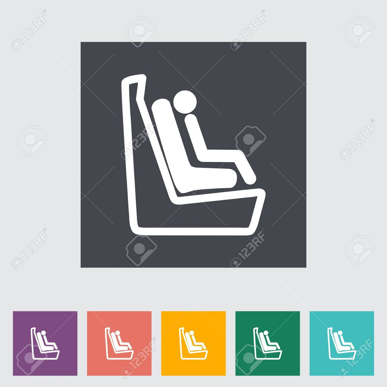 Lower anchors and tethers for children. Single flat icon. Vector illustration. Stock Vector - 21190402