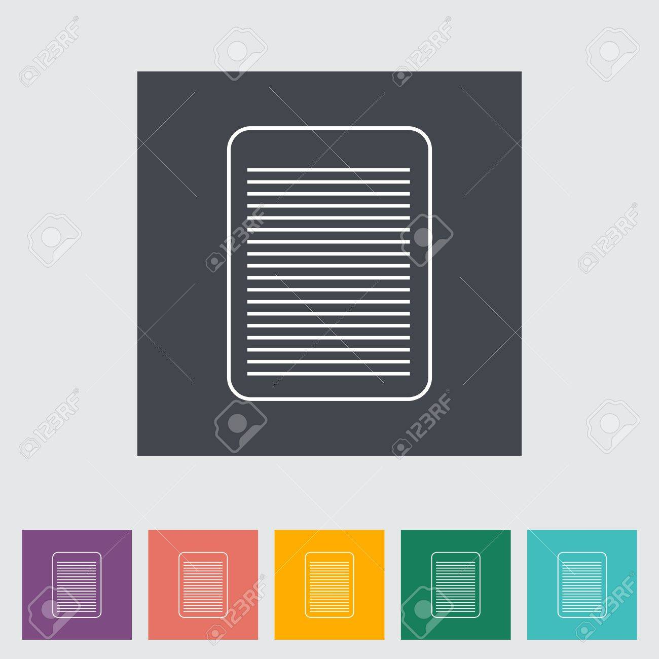 Document single flat icon. Vector illustration. Stock Vector - 21190430