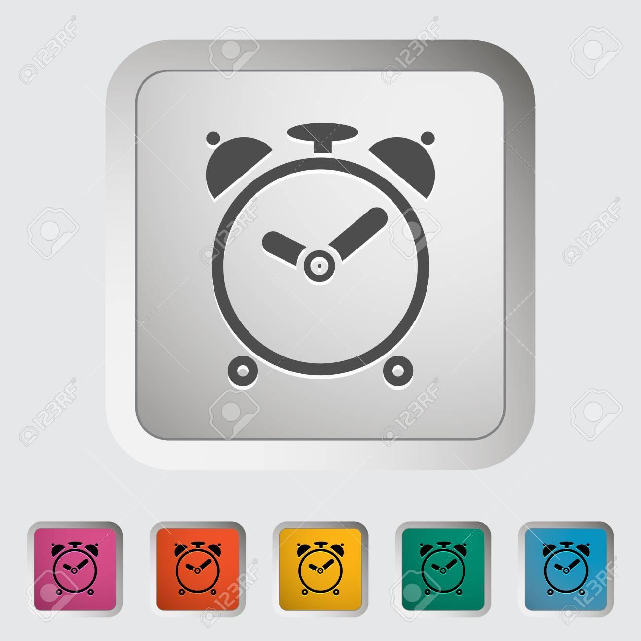 Alarm clock. Single icon. Vector illustration.. Stock Photo - 21190643