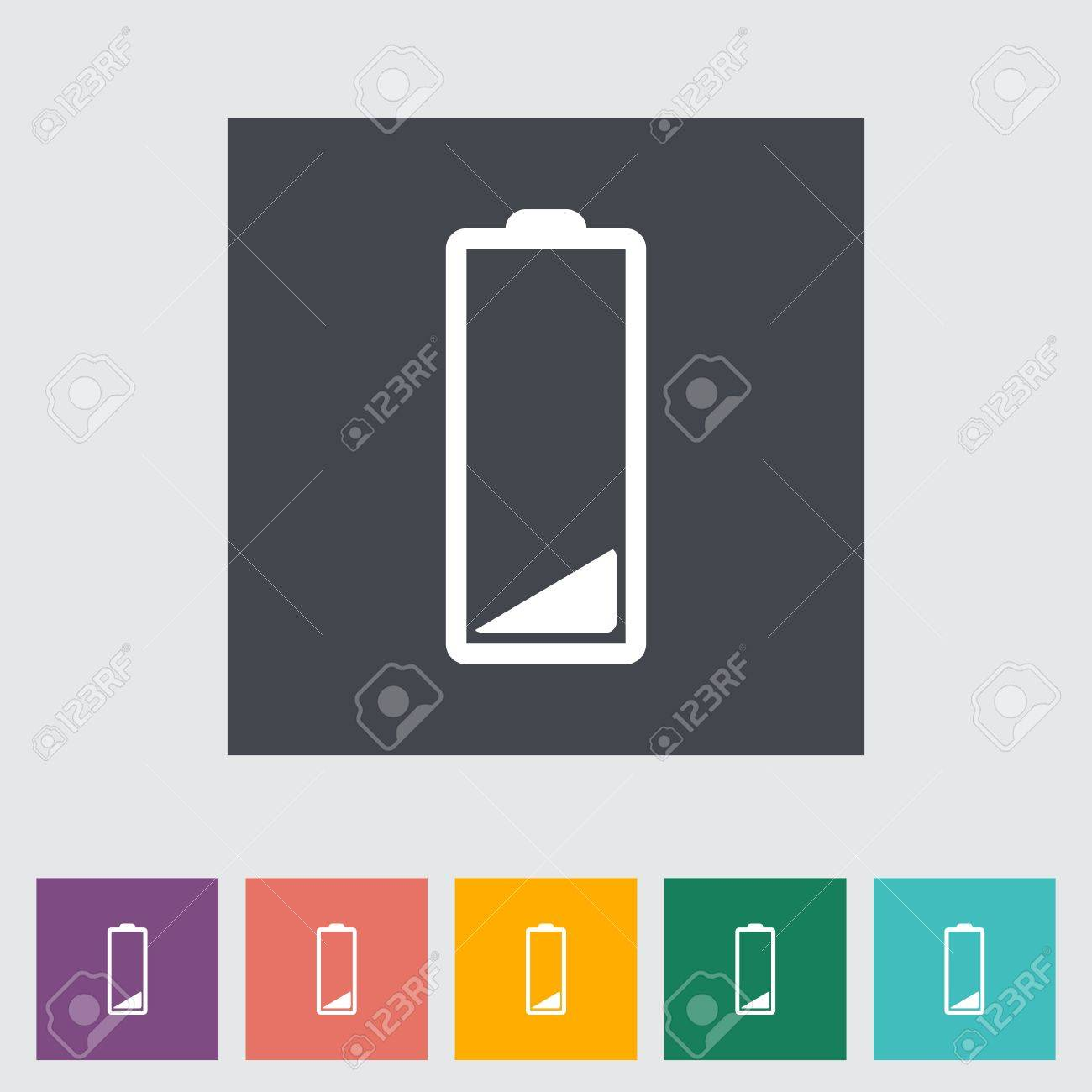Charging the battery, flat single icon. Vector illustration. Stock Illustration - 21190646