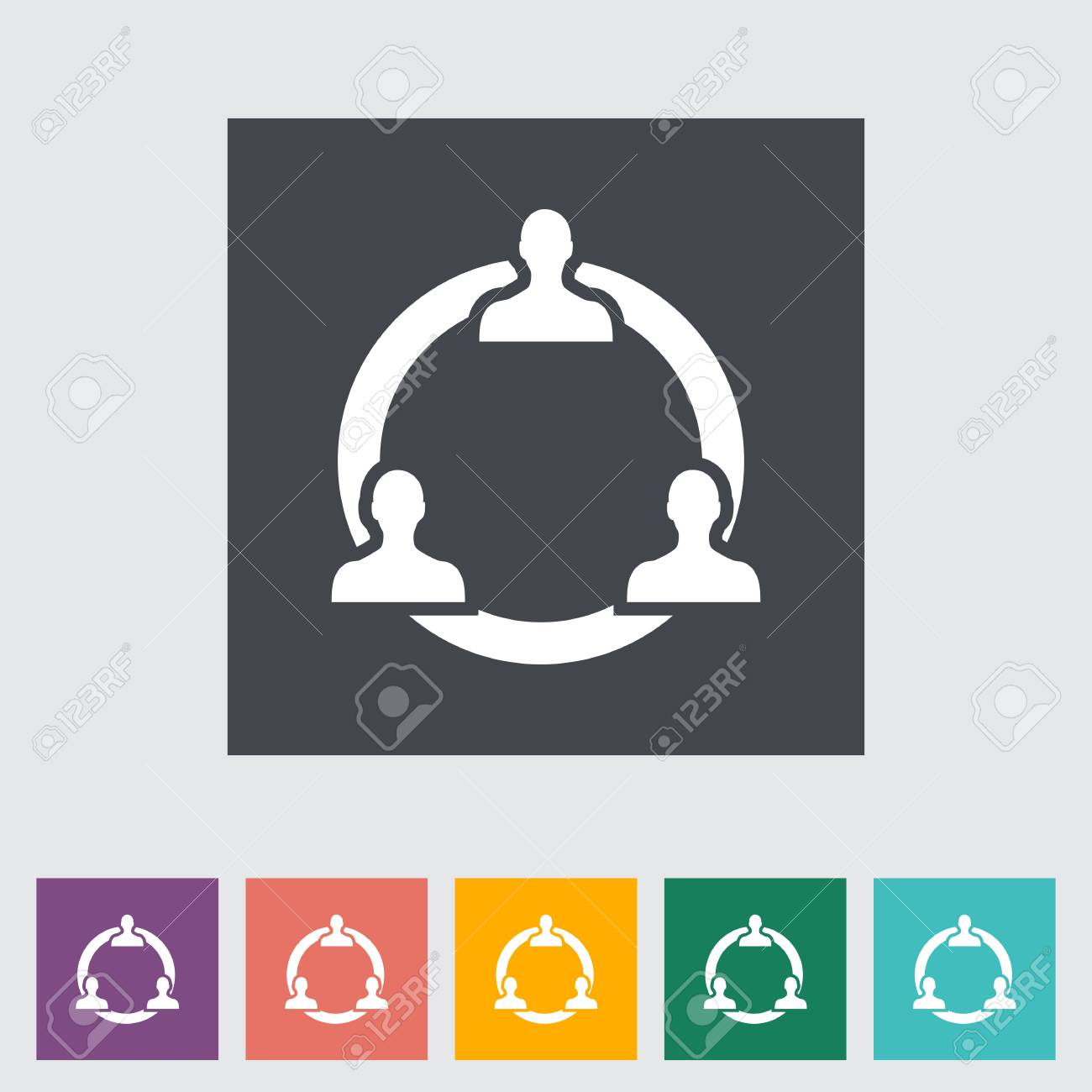 Network single flat icon. Vector illustration. Stock Illustration - 21190760