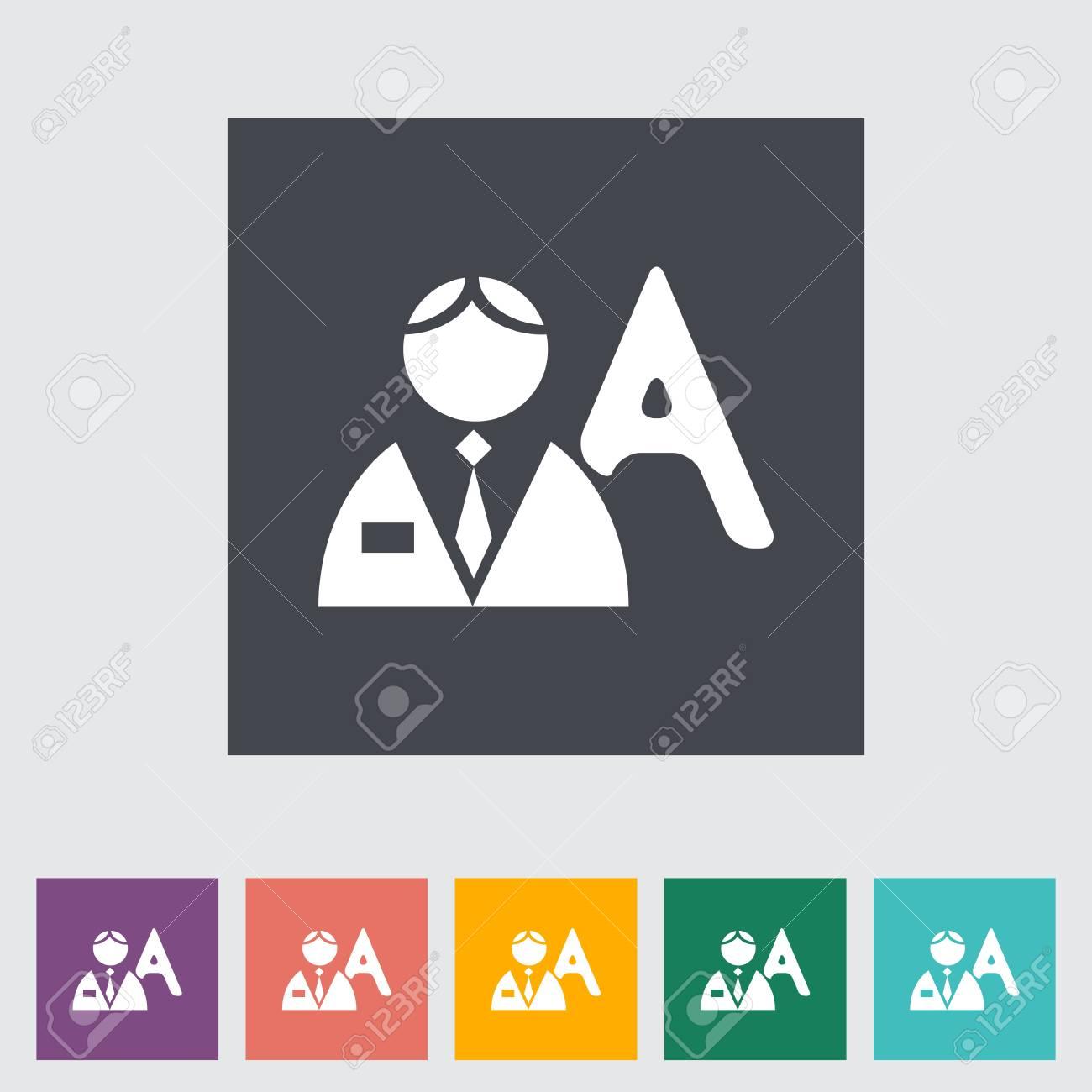 Person single flat icon. Vector illustration. Stock Vector - 21319468