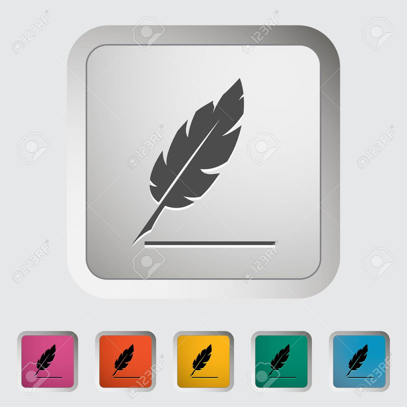 Feather  Single icon illustration Stock Vector - 21528497
