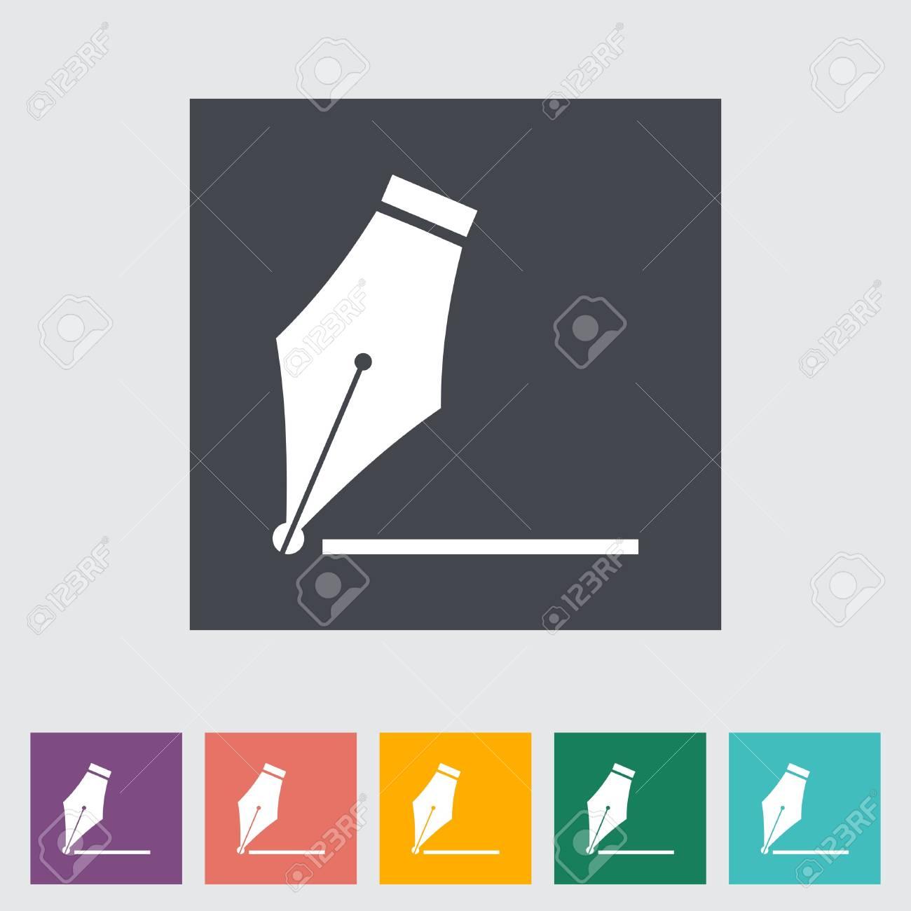 Nib. Single flat icon. Stock Vector - 21686736