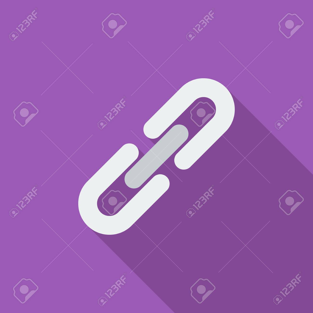 Link Icon Flat Vector Related Icon With Long Shadow For Web