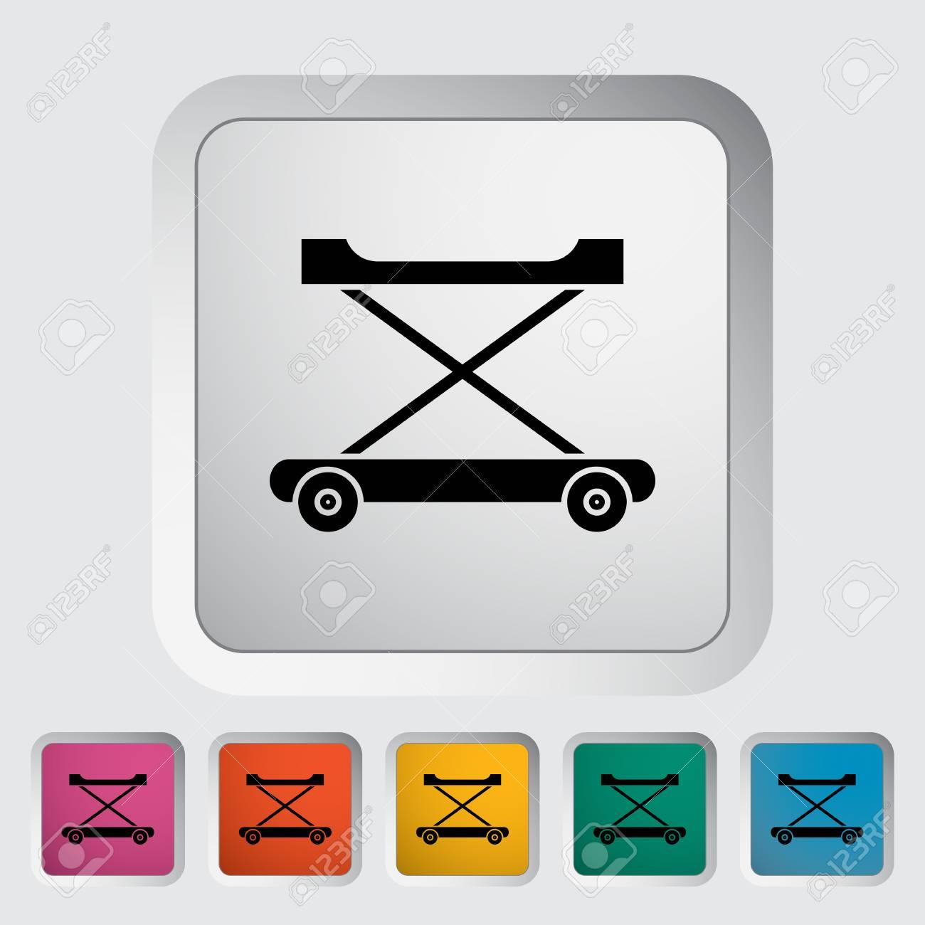Icono Andador. Vector Icono Relacionado Plana Para Web Y ...