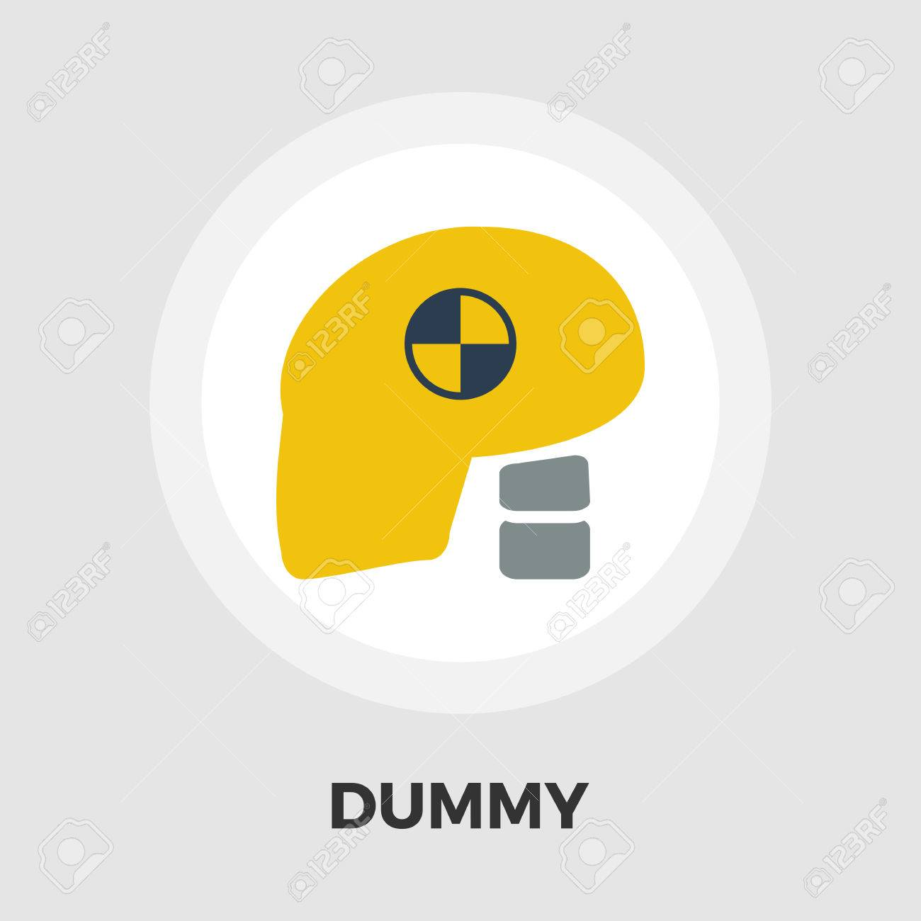 Dummy Head For Crash Test Icon Vector Flat Icon Isolated On