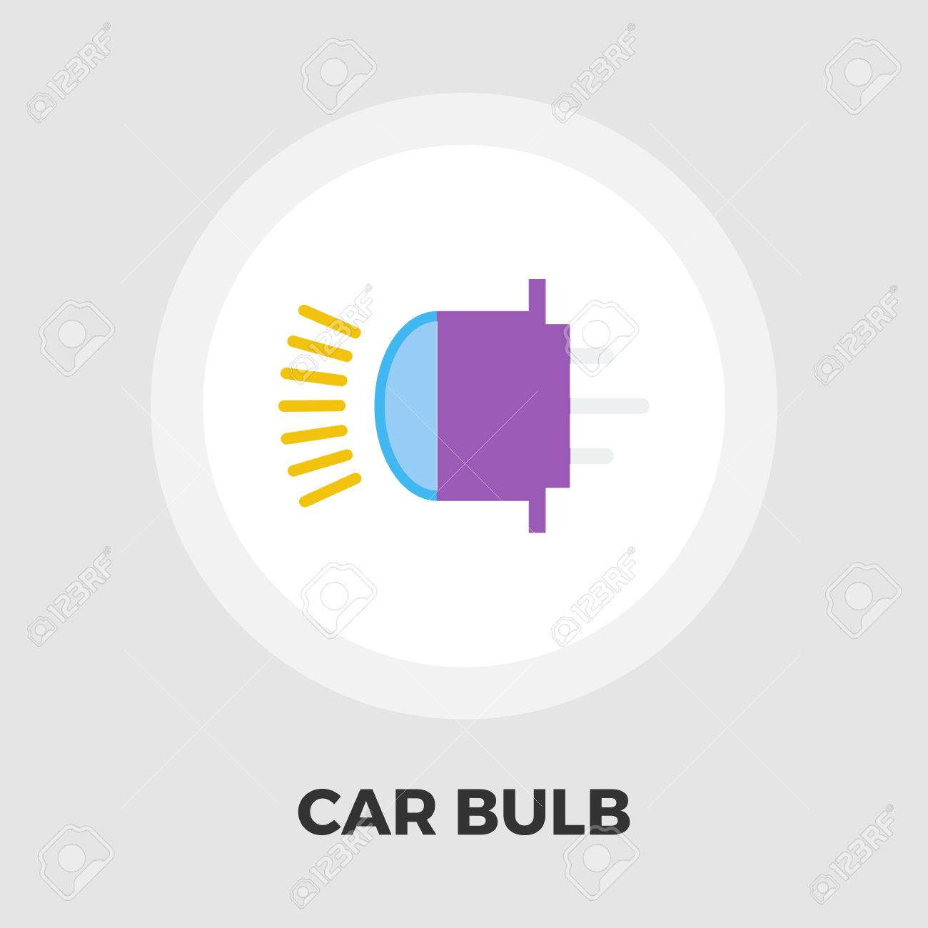 Xenon Car Lamp Icon Vector. Flat Icon Isolated On The White ... for Car Lamp Vector  110ylc