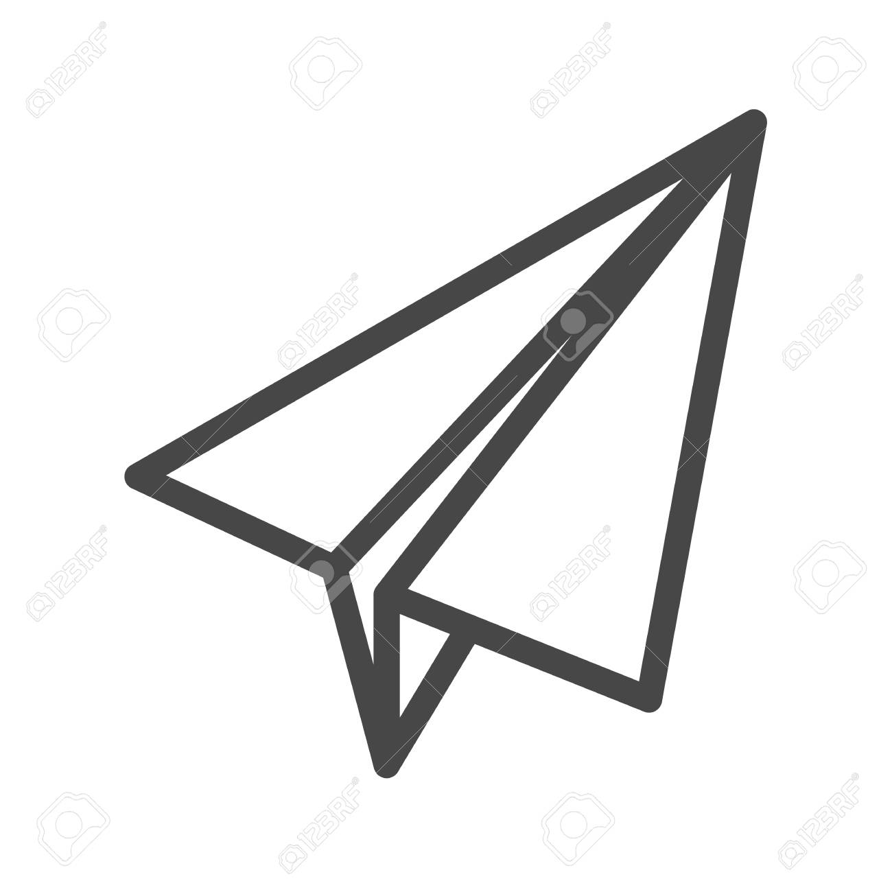 paper airplane thin line vector icon flat icon isolated on the rh 123rf com paper airplane vector freepik paper airplane vector graphic free