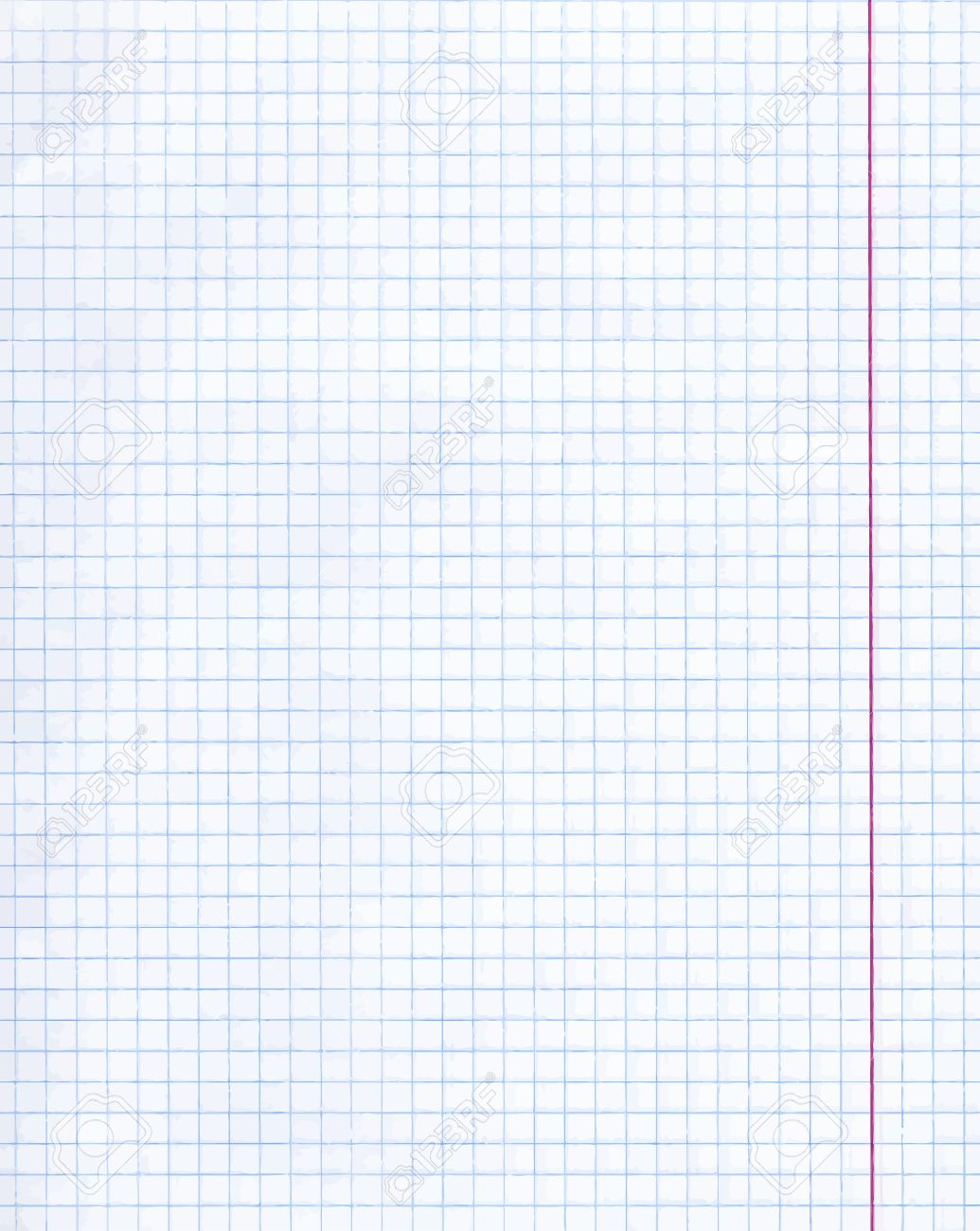 Blank Exercise Book Paper Sheet. Exercise Book Paper One Page In Square For  Math,