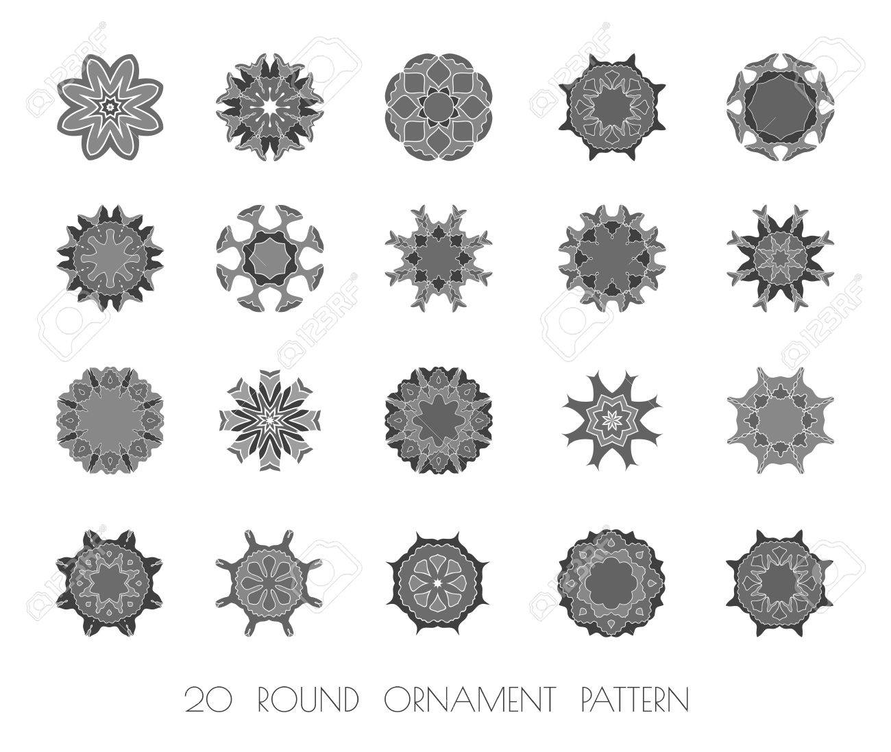 Circular Pattern Of Traditional Motifs. Can Be Used For Invitation ...