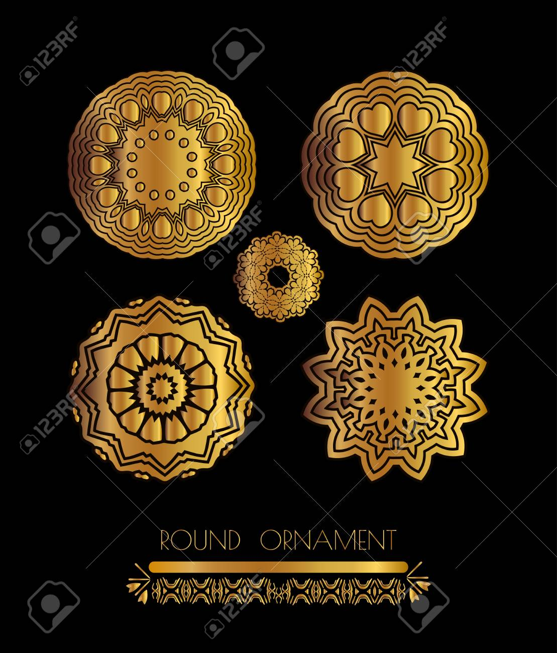 ornamental lace pattern for wedding invitations and greeting stock