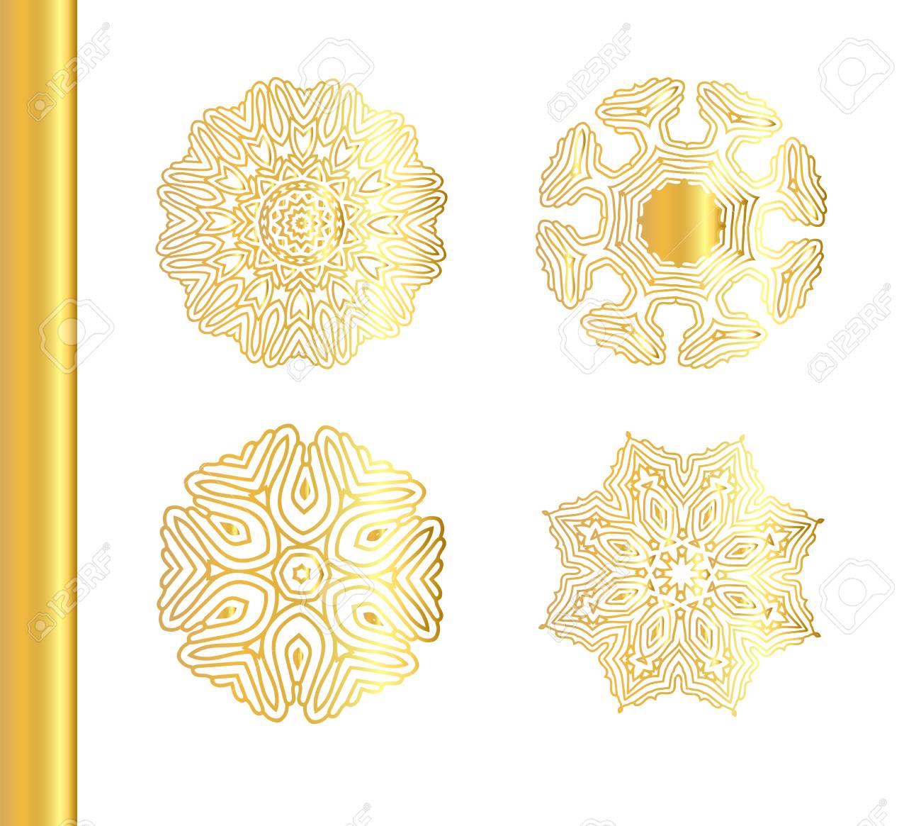 Indian Asiatische Arabischen Ottomane Motiv. Vector Bordüre Rahmen ...