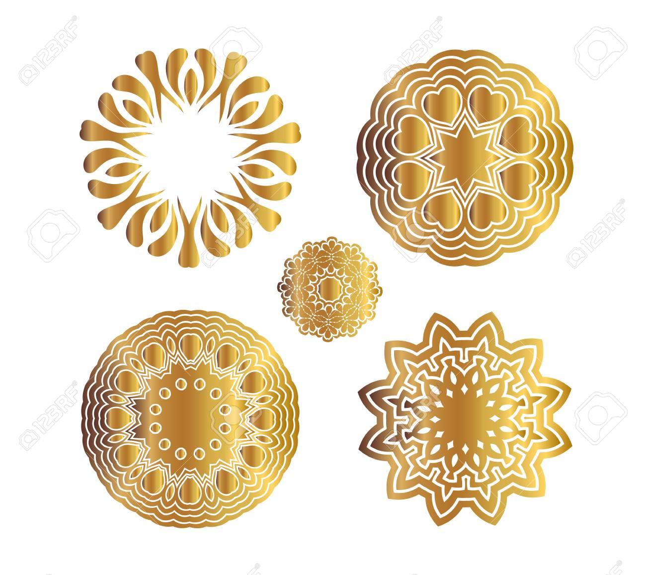 Mandala Gold Tattoo Traditional Indian Art Henna Tattoo Golden