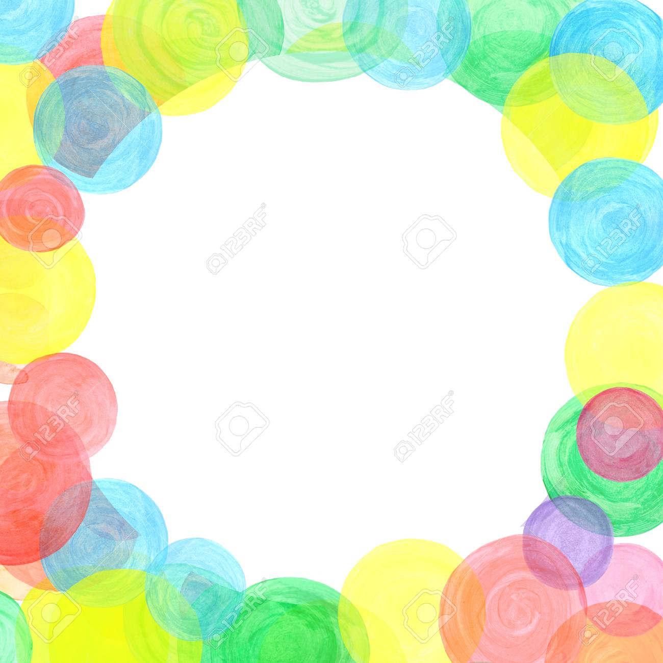 design template decorated with rainbow confetti colorful watercolor