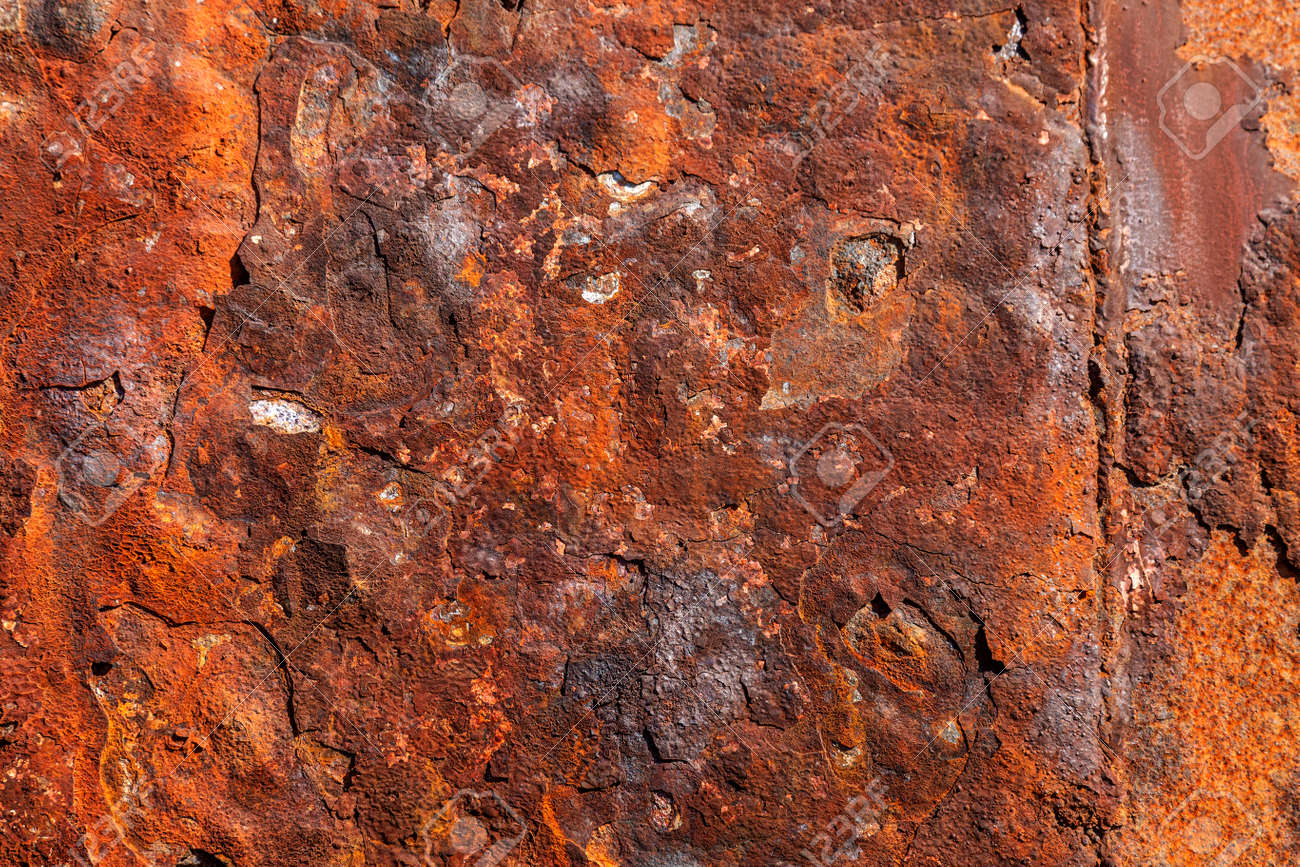 Grunge rusty metal texture, rust and oxidized metal background. Old metal panel. Large Rust background - perfect for text or creative images and designs - 153780991