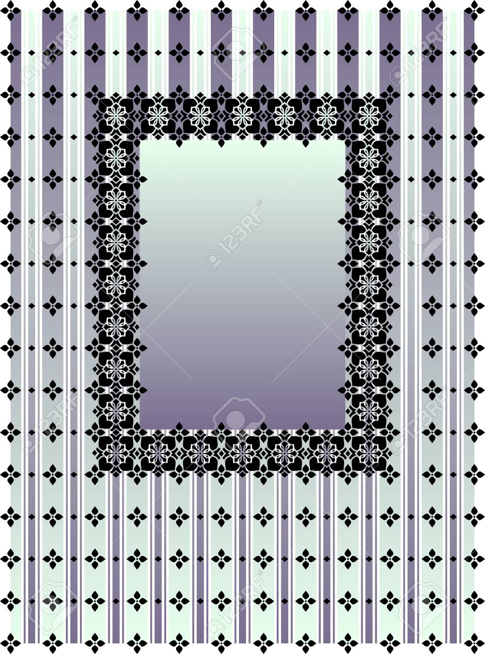 striped vertical blue and violet frame Stock Vector - 4619431