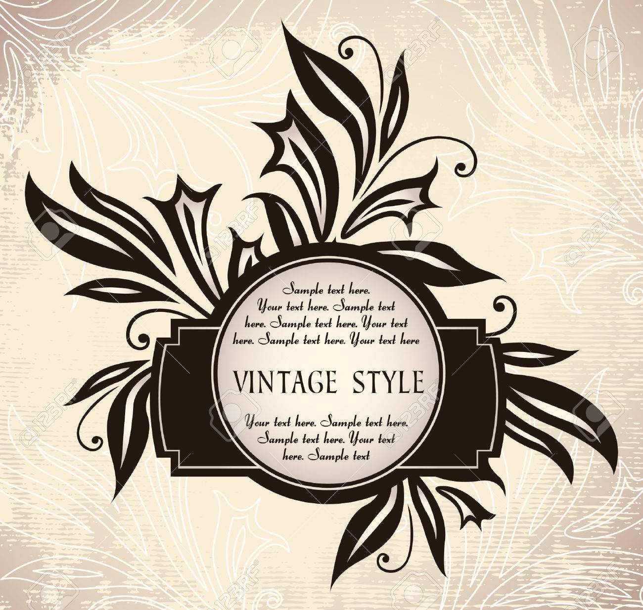 vintage frame with lilies Stock Vector - 6760087