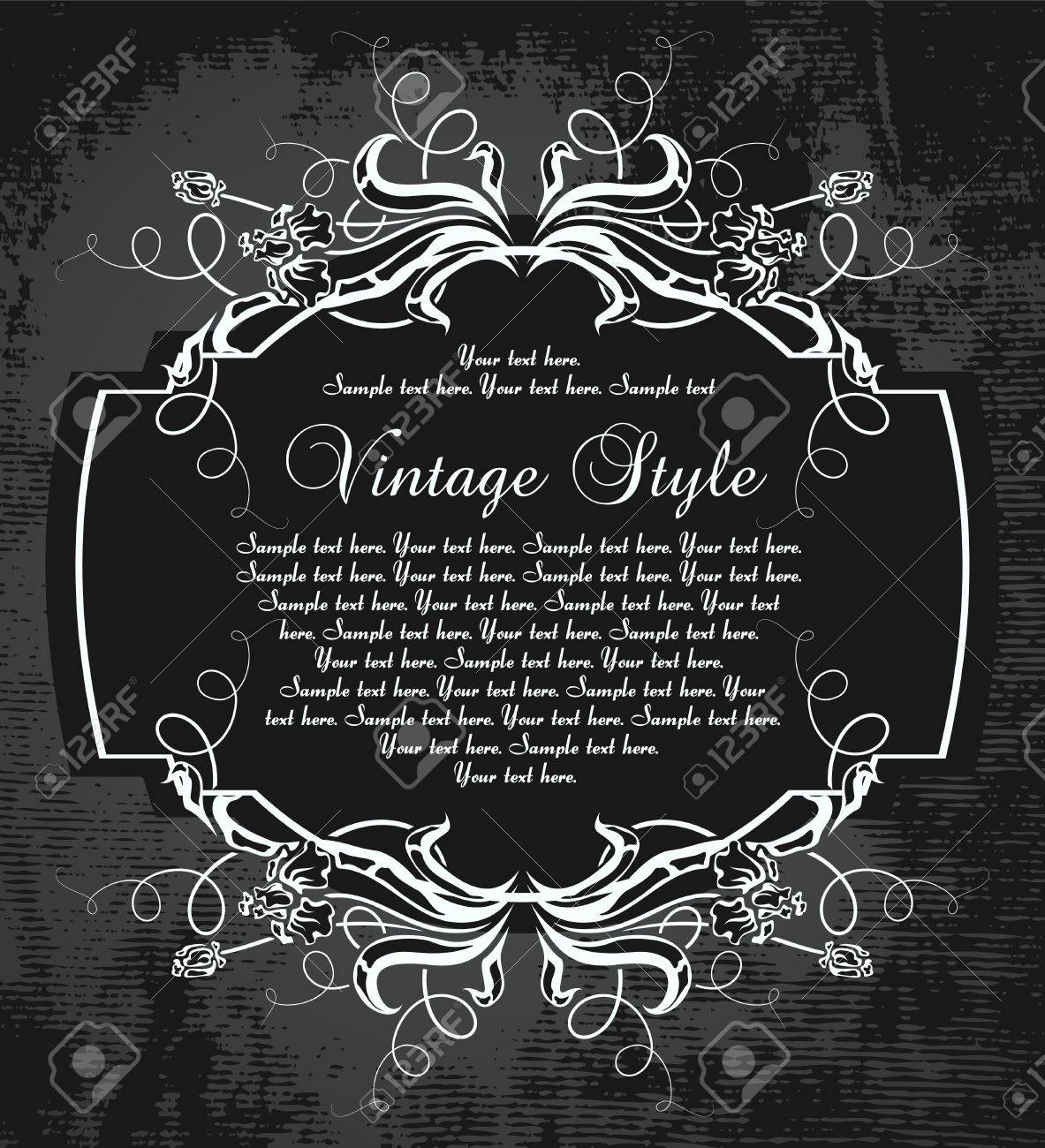 dark vintage frame with irises Stock Vector - 6871730