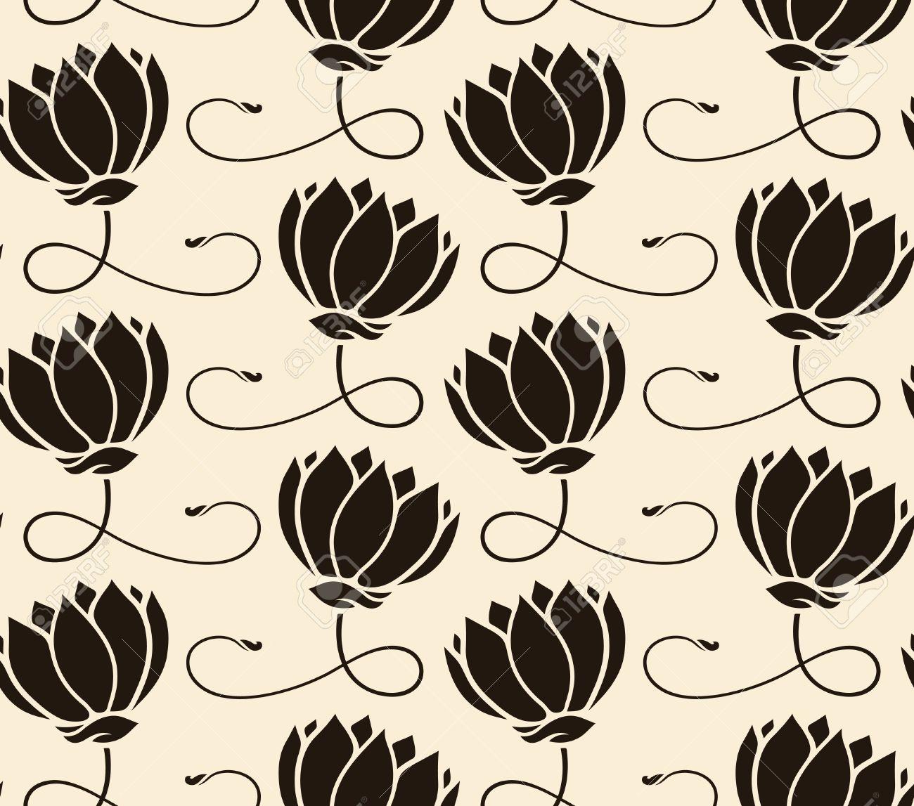 Yoga pattern background seamless pattern with five petals lotus flower - Lotus Pattern Pattern Seamless With Lotus