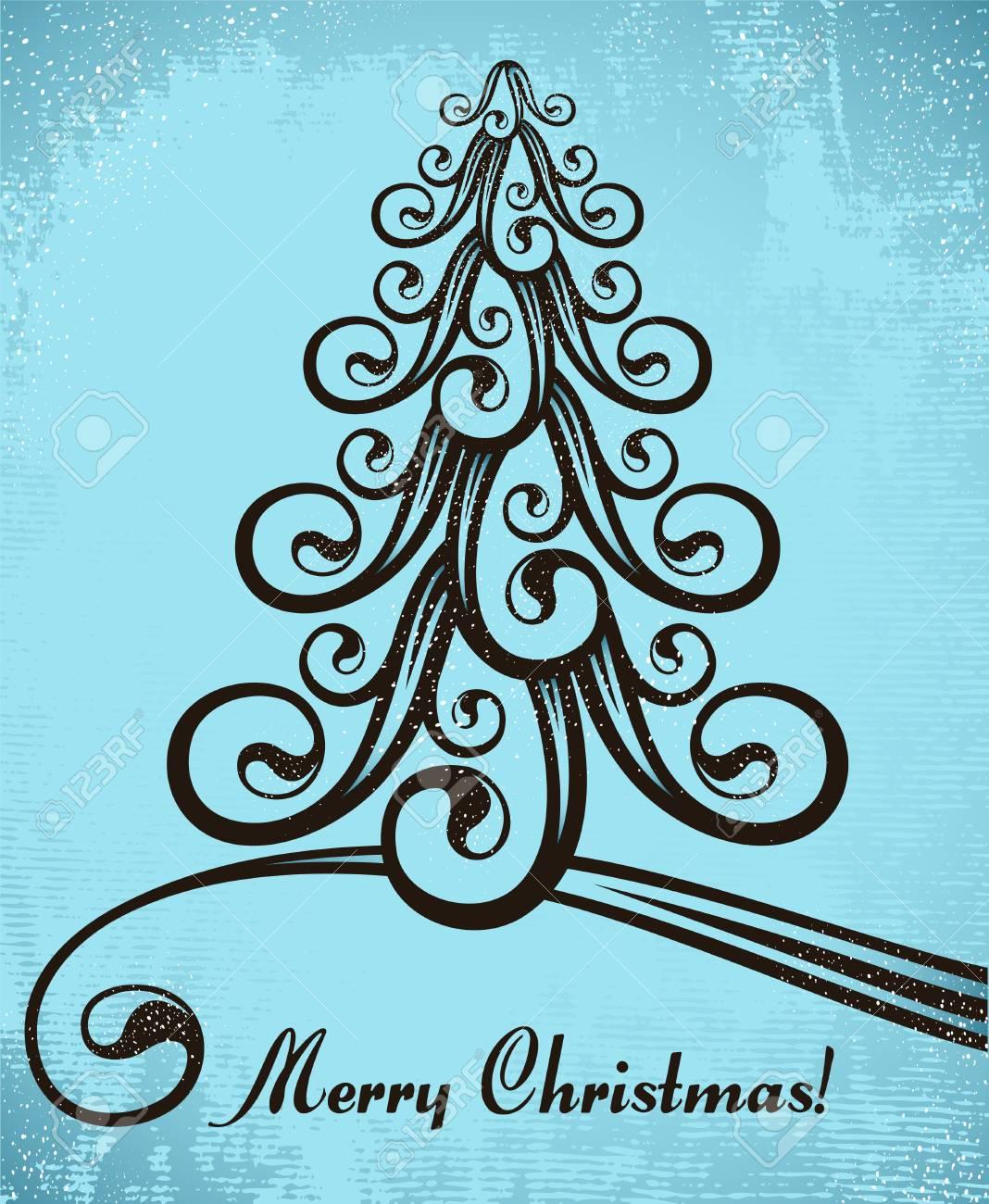 stylized christmas tree Stock Vector - 8245852