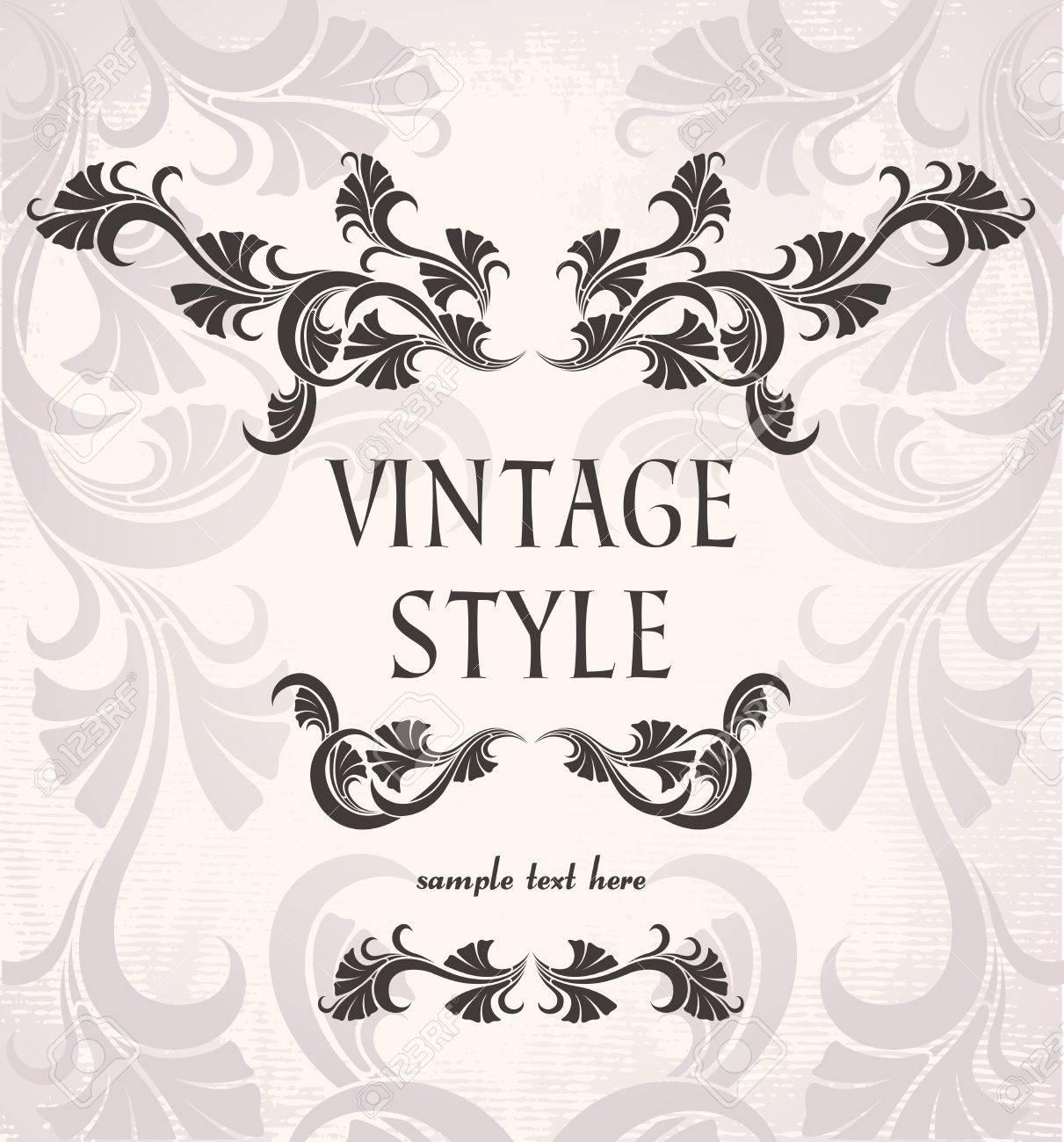 vintage frame Stock Vector - 9054959