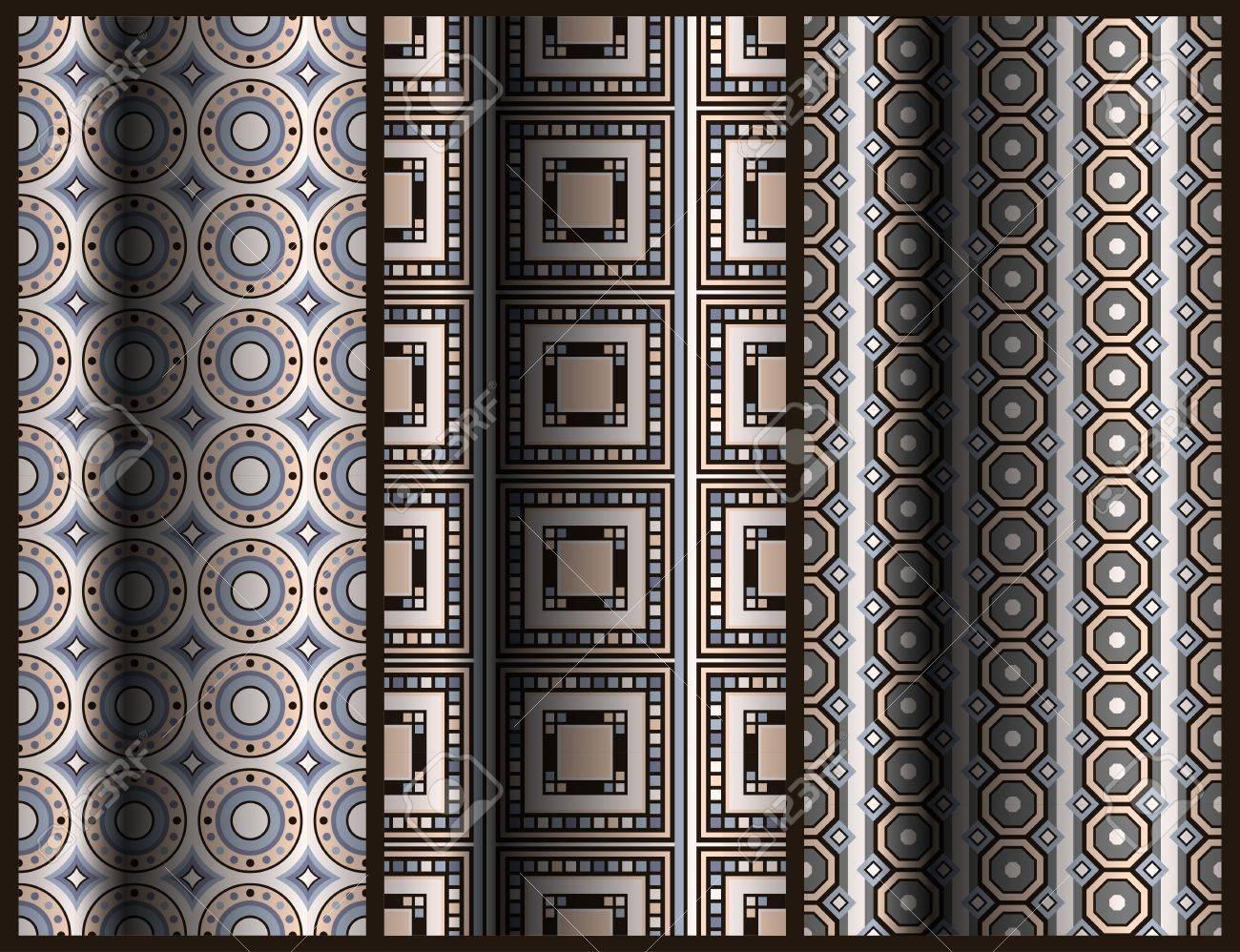 set of seamless geometric pattern Stock Vector - 12303942