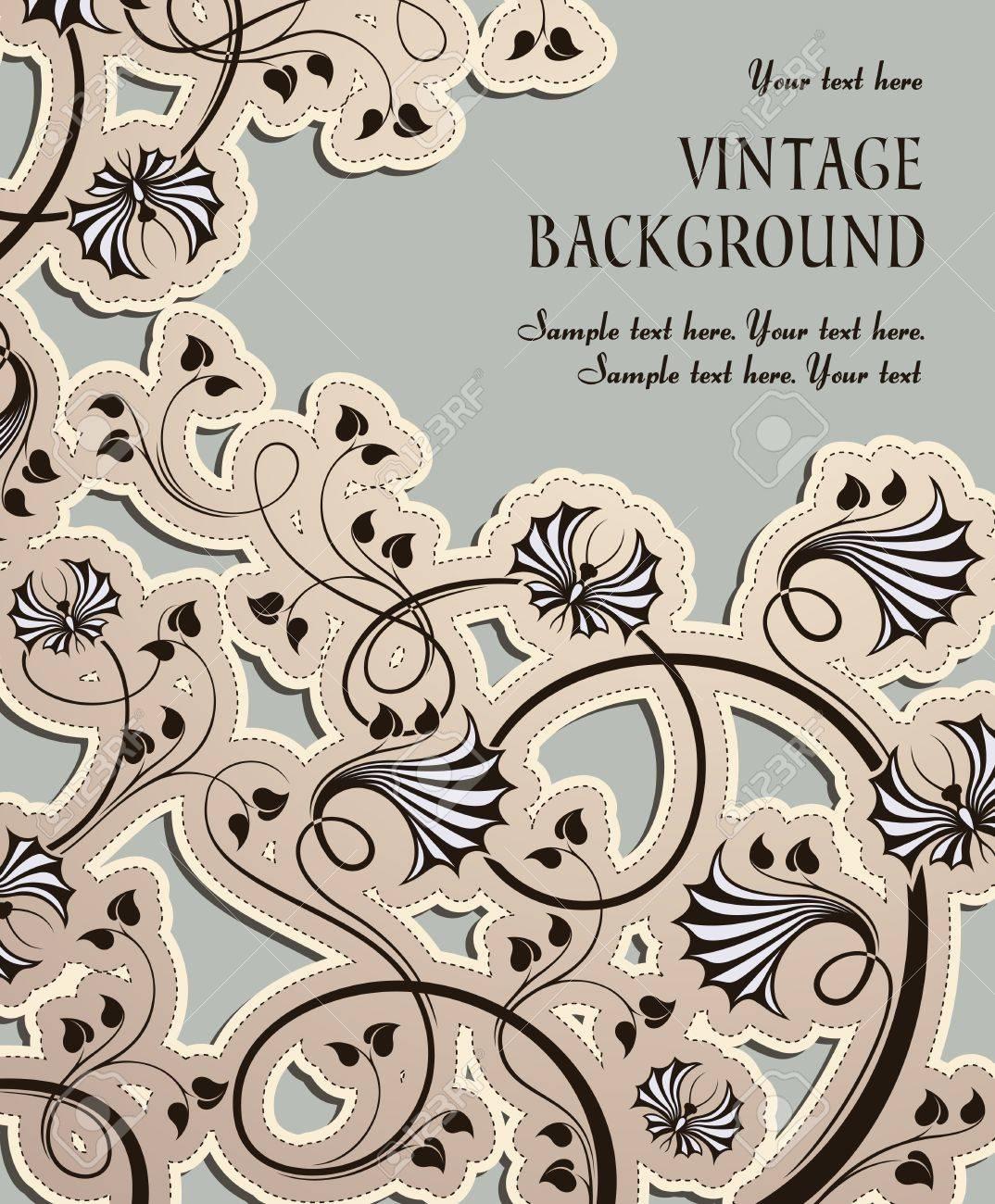 vintage background Stock Vector - 12492433