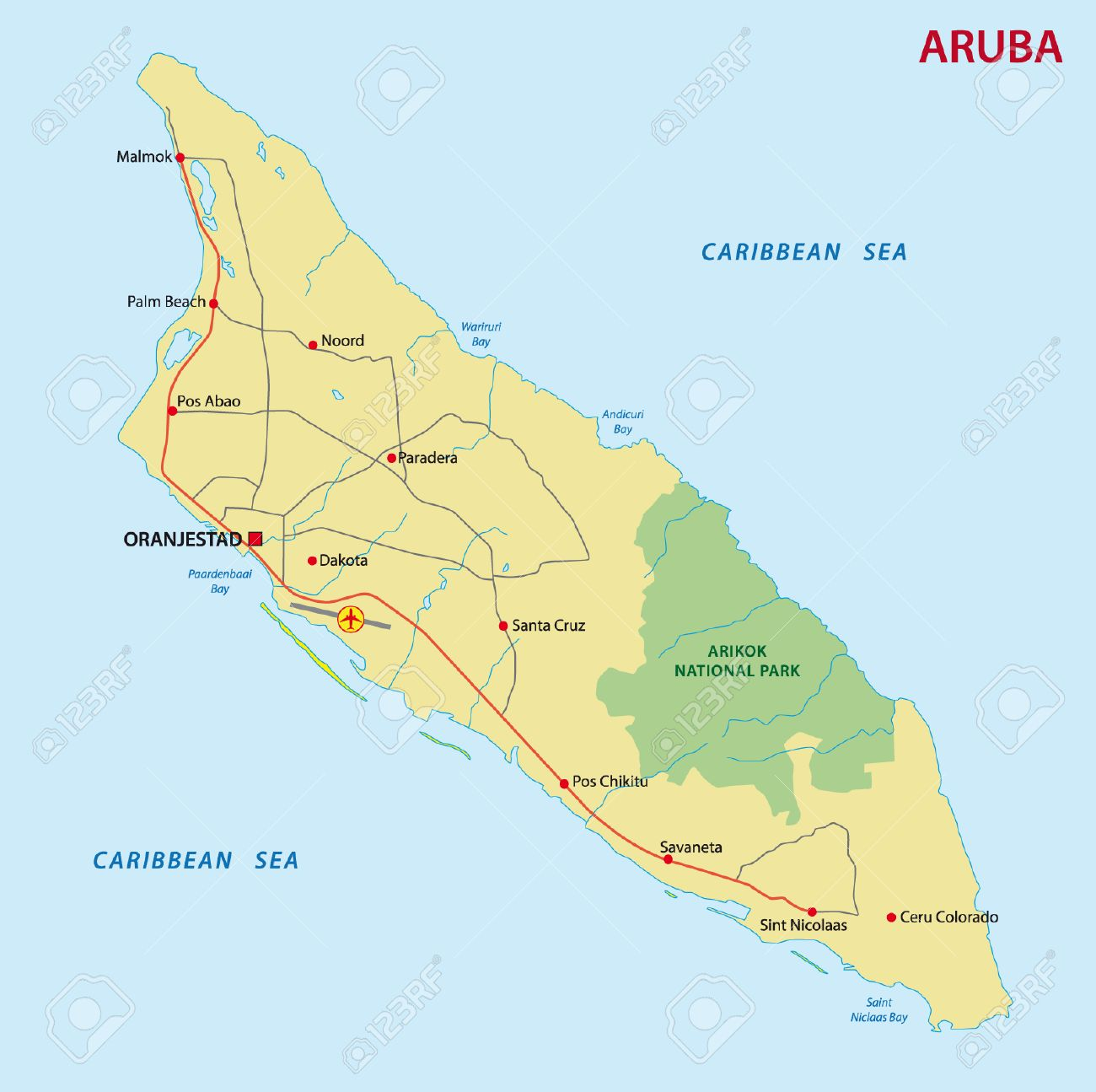 Aruba Map Royalty Free Cliparts Vectors And Stock Illustration - Aruba map vector