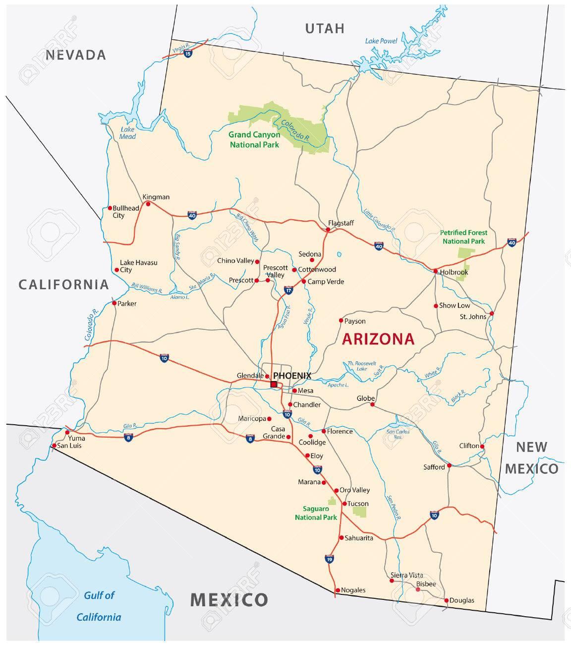 arizona road map arizona road map az road map arizona highway map