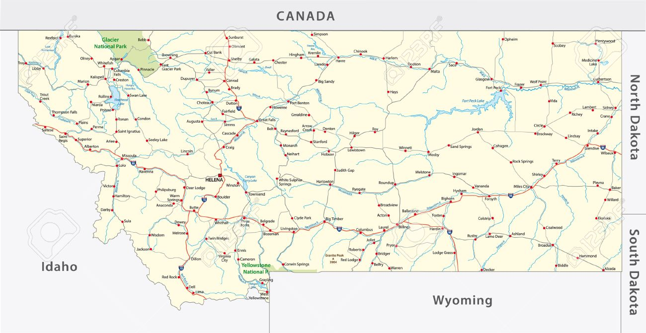 Map Of Montana With Cities Maldives Islands Map Maps Chicago - Montana political map