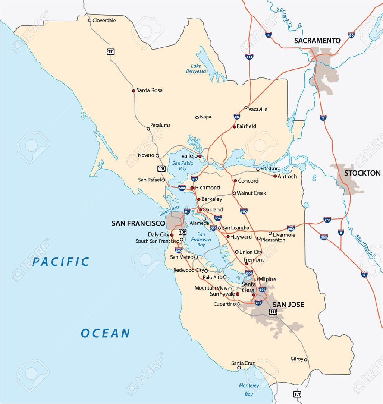 san francisco bay area map on sfo bay map, central valley map, mojave desert map, hudson bay map, chicago map, delaware bay map, san pablo bay map, puget sound map, lake erie map, california map, chesapeake bay map, great basin map, st. helena bay map, sierra nevada map, monterey bay map, festival of sail map, lake michigan map, death valley map, angel island map, rocky mountains map,