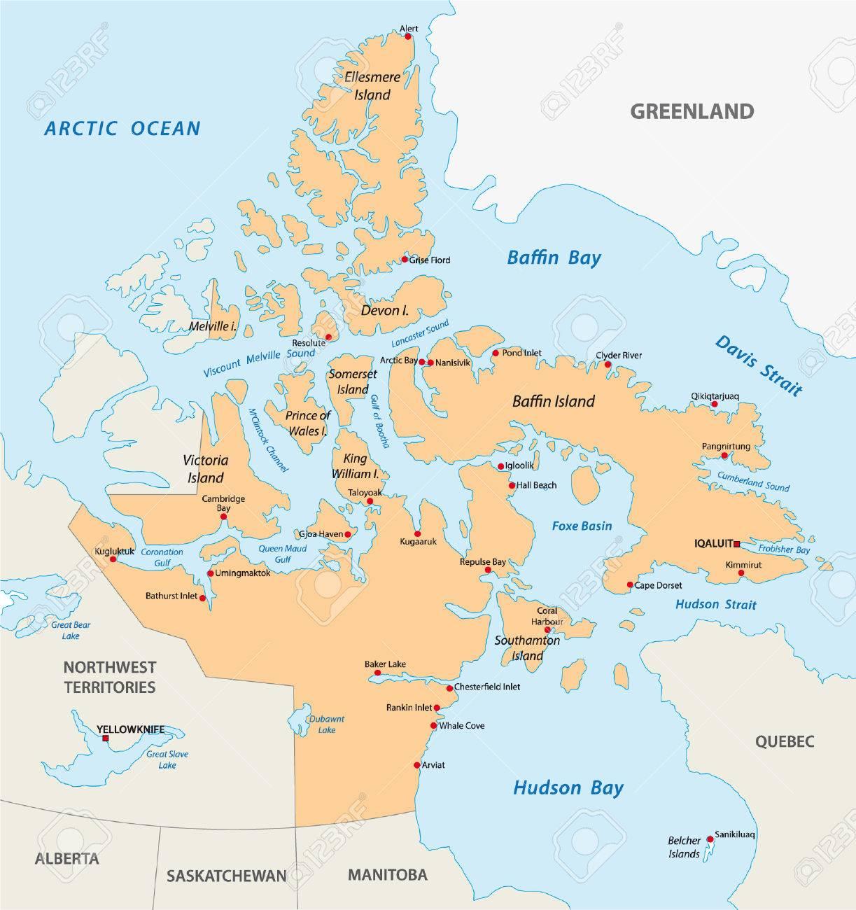 ヌナブト準州地図のイラスト素材・ベクタ - Image 32312487.