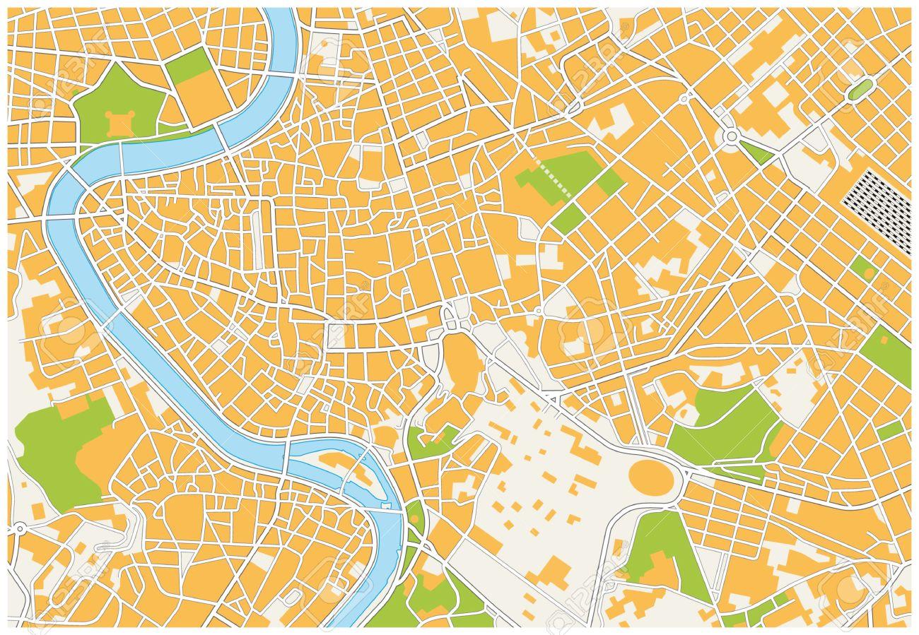 Cartina Citta Roma.Vettoriale Mappa Della Citta Di Roma Image 33559679