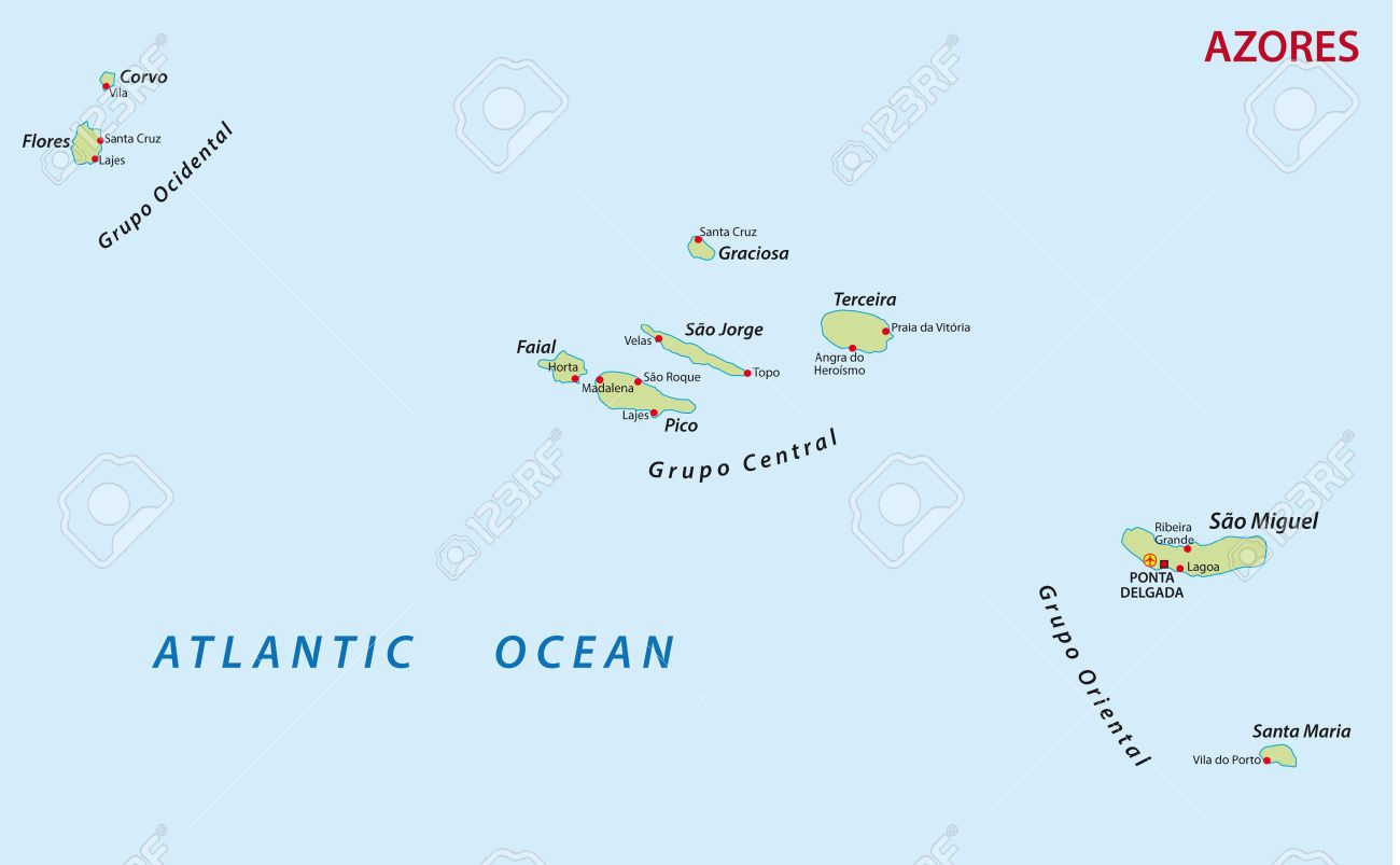 azores map royalty free cliparts vectors and stock illustration