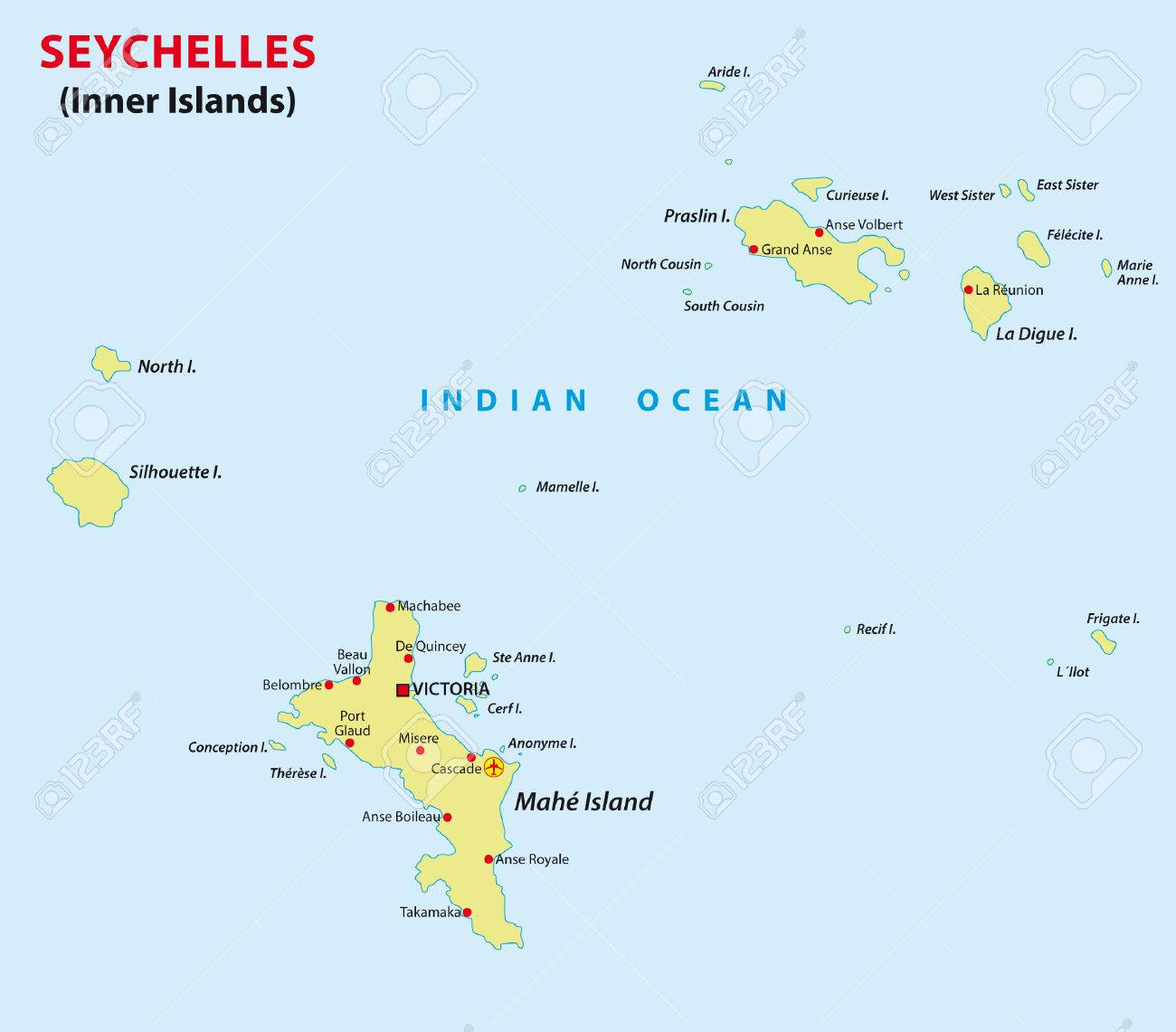 Seychelles Map Royalty Free Cliparts Vectors And Stock - Seychelles map