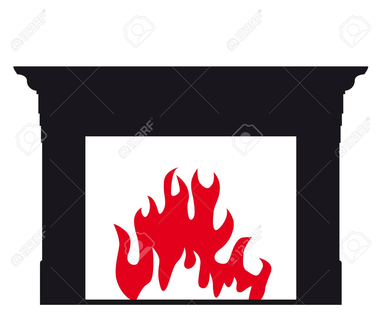 fireplace silhouette royalty free cliparts vectors and stock