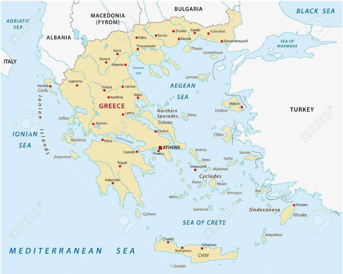 Greece Map Royalty Free Cliparts Vectors And Stock Illustration