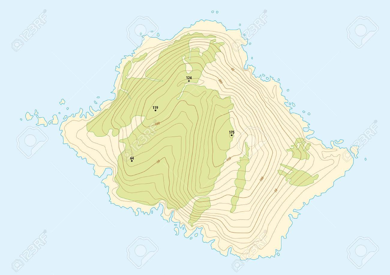 Topographic map of a fictional island royalty free cliparts vectors topographic map of a fictional island stock vector 35271159 gumiabroncs Images