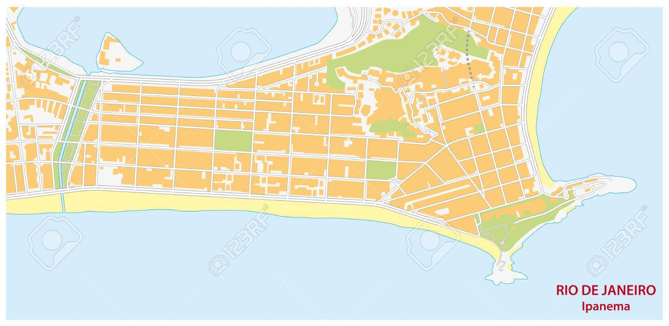 Ipanema Map Royalty Free Cliparts Vectors And Stock Illustration