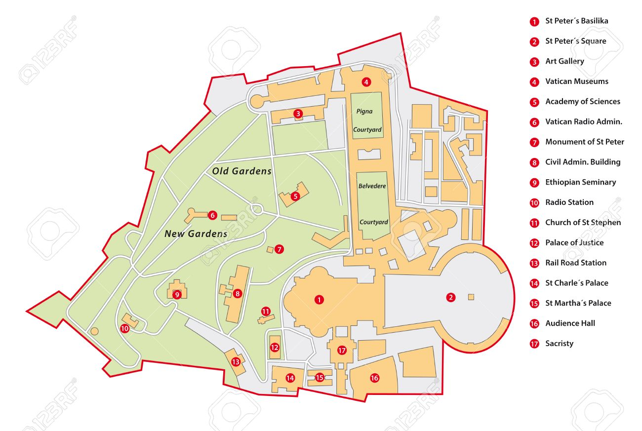 Vatican City Map Royalty Free Cliparts Vectors And Stock