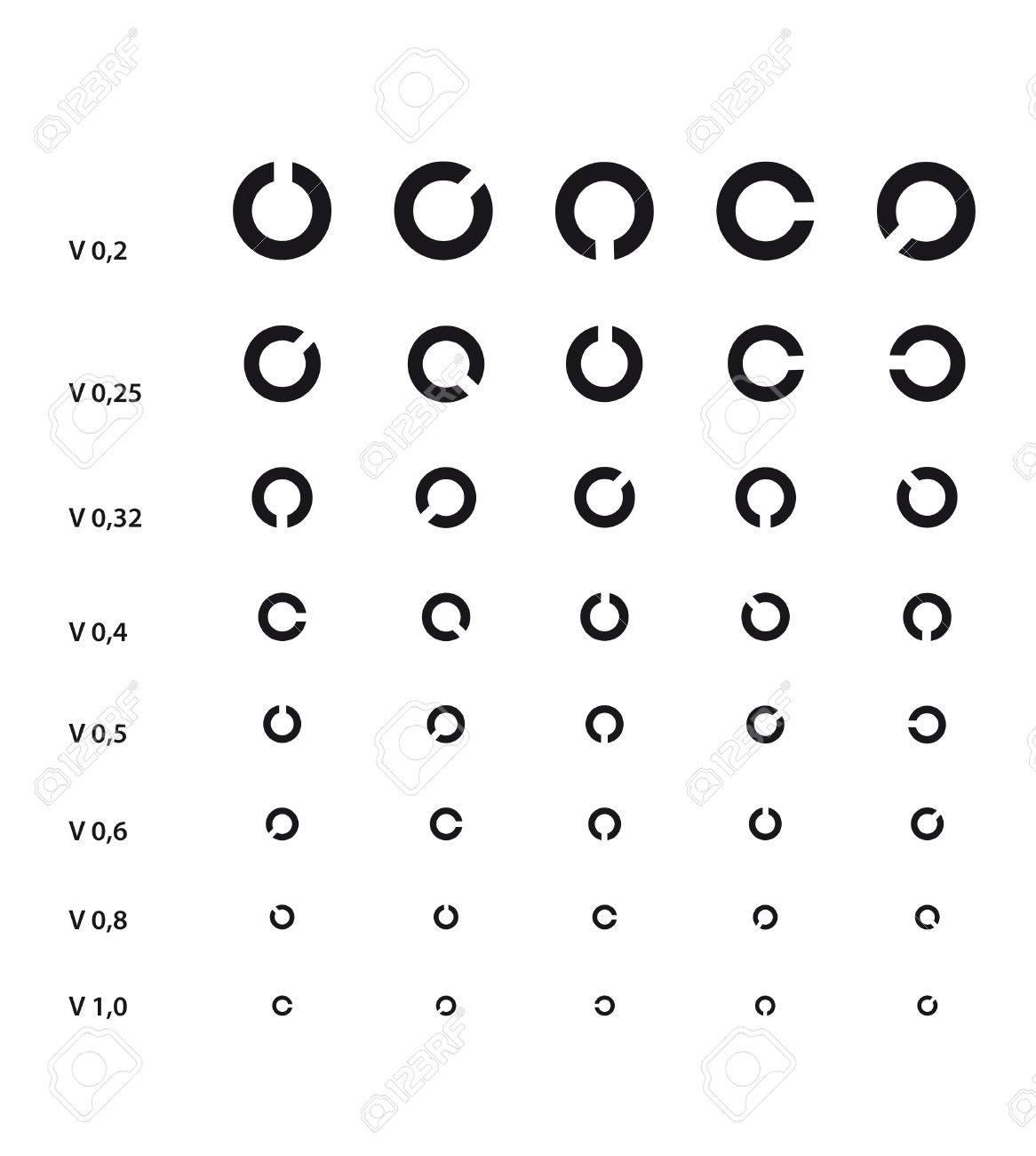 Medical eye chart with landolt c royalty free cliparts vectors and medical eye chart with landolt c stock vector 43834791 nvjuhfo Gallery