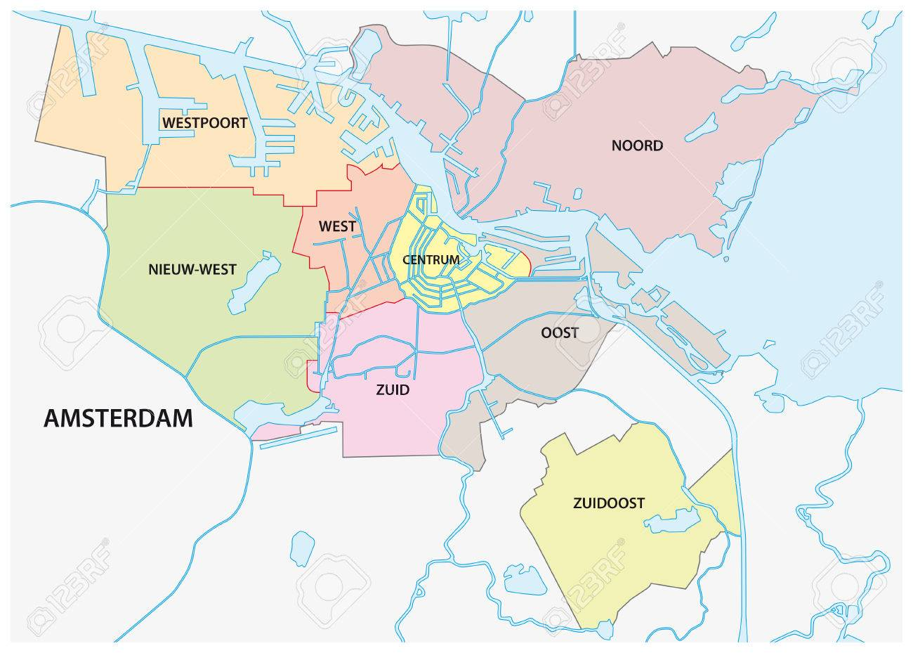 Image result for amsterdam map