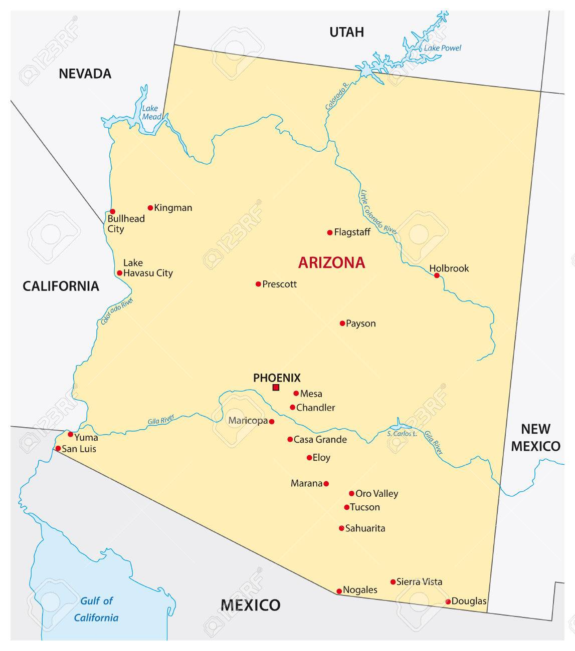 map of arizona cities arizona road map with cities and towns