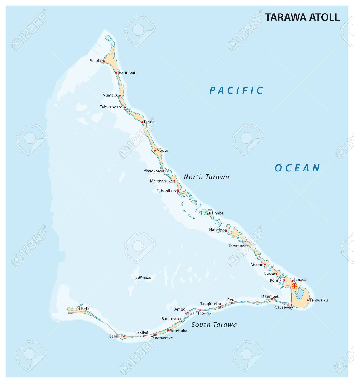 Tarawa Atoll Kiribati Royalty Free Cliparts Vectors And Stock