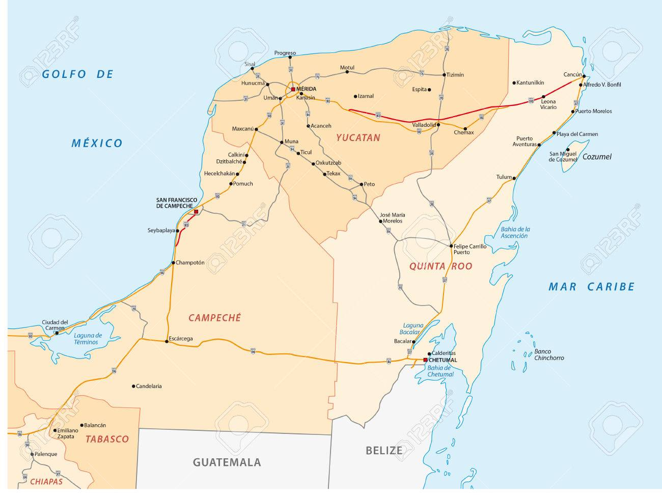 Yucatan peninsula road map on zacatecas map, oaxaca map, pampas map, mahahual map, baja map, cozumel map, cancun map, belize map, merida map, quintana roo map, mexico map, riviera maya map, tenochtitlan map, puerto rico map, chiapas map, hawaii map, campeche map, mesoamerica map, panama map, guadalajara map,