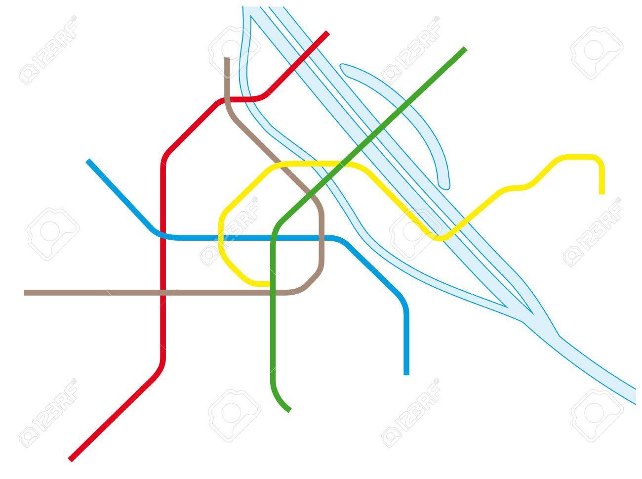 Vienna Subway Map.Vienna Metro Map